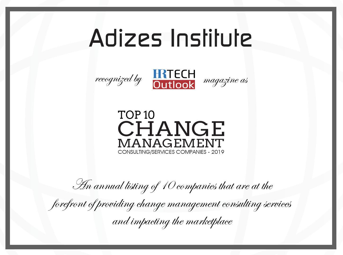 Top 10 Change Management Consulting Companies of 2019