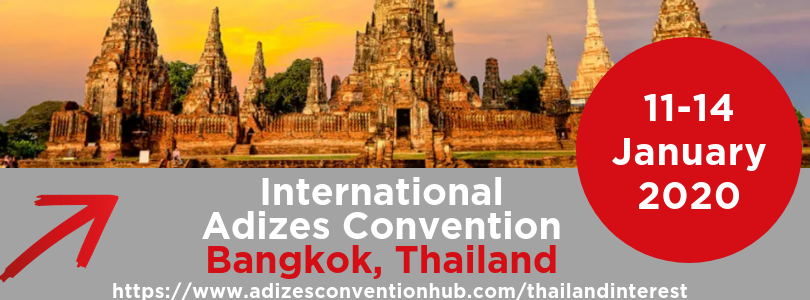 adizes convention in Bangkok thailand 2020